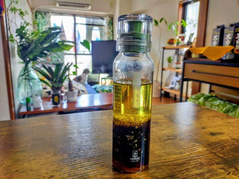 バルサミコ酢の醤油ドレッシングの完成した写真