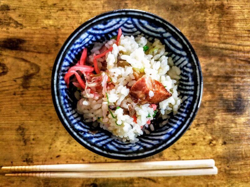 博多らーめん味の炊き込みご飯の完成写真
